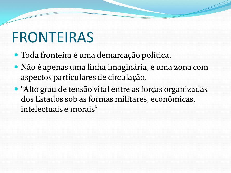 FRONTEIRAS Toda fronteira é uma demarcação política.