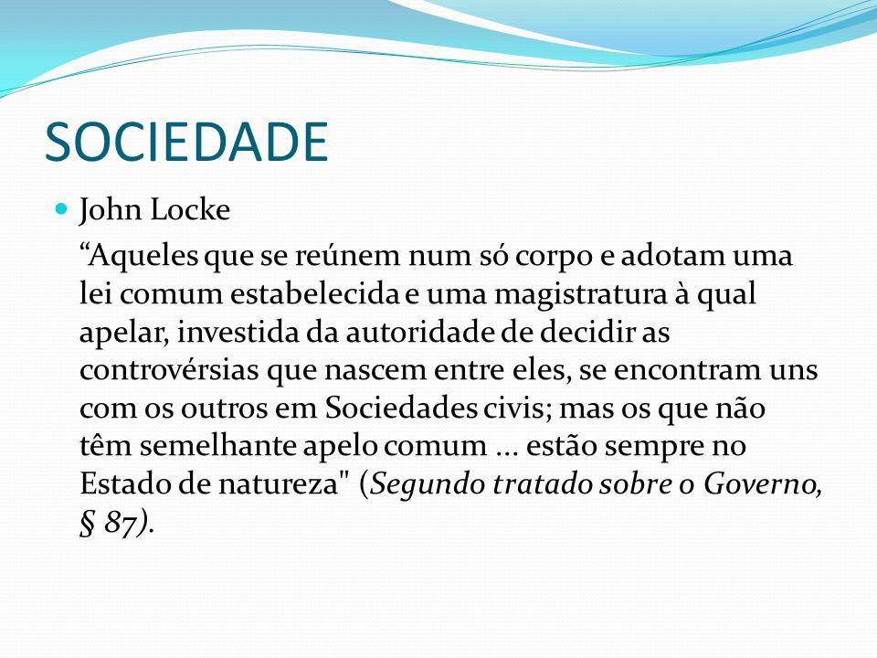 SOCIEDADE John Locke.