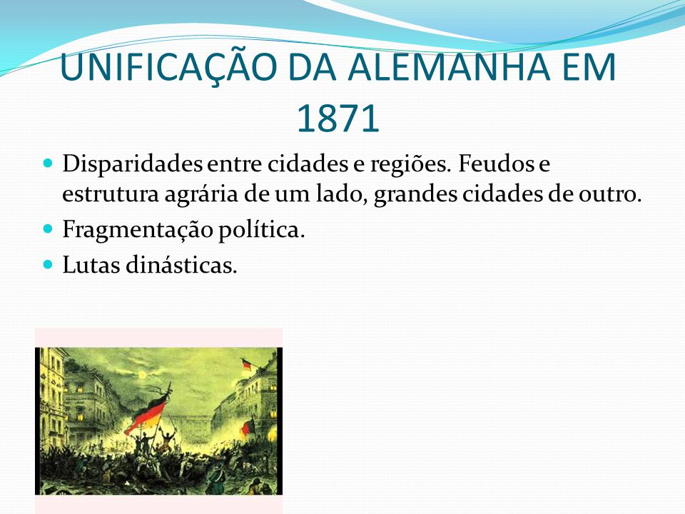 UNIFICAÇÃO DA ALEMANHA EM 1871