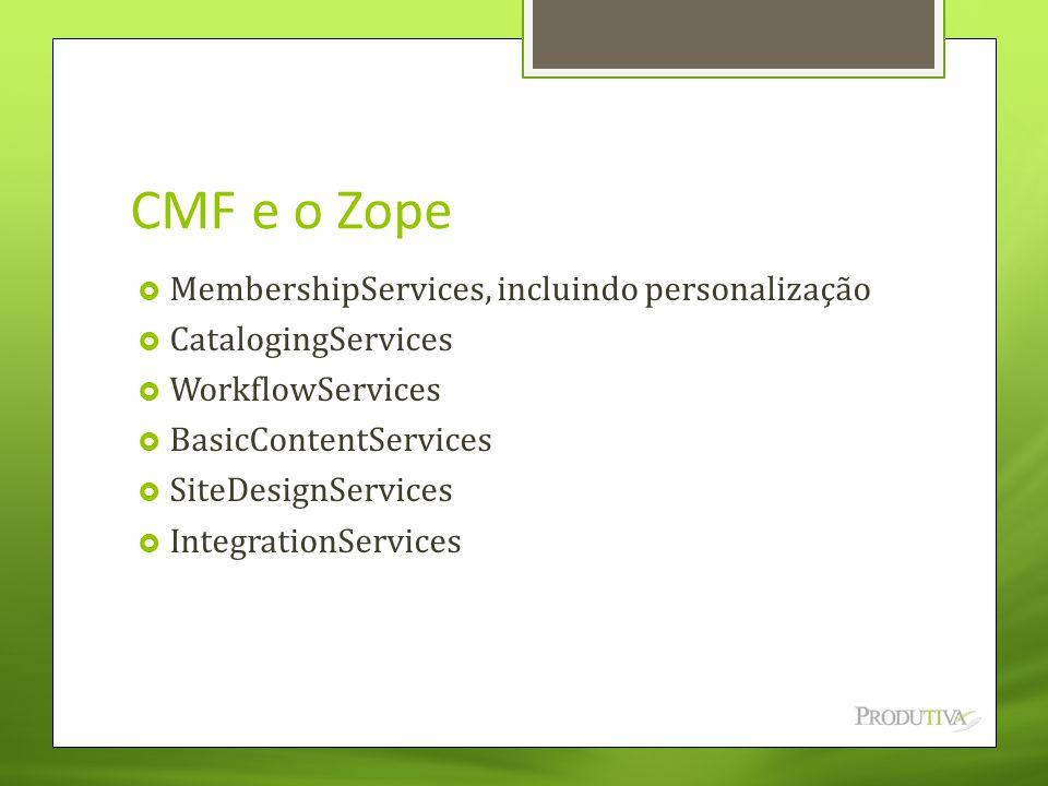 CMF e o Zope MembershipServices, incluindo personalização