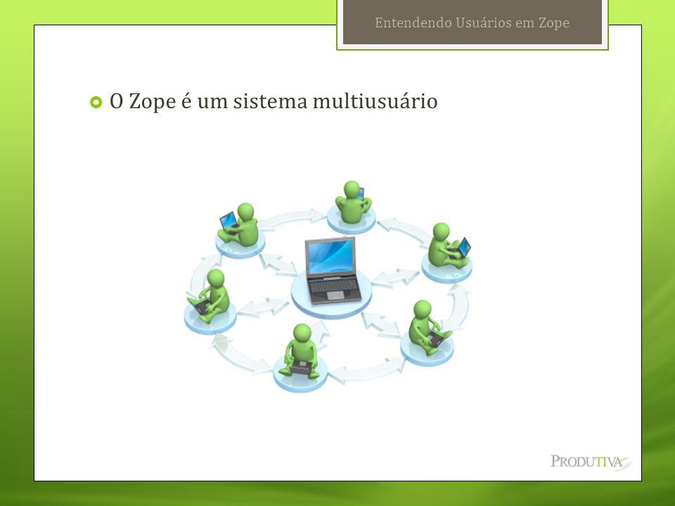 Entendendo Usuários em Zope