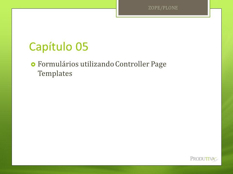 Capítulo 05 Formulários utilizando Controller Page Templates