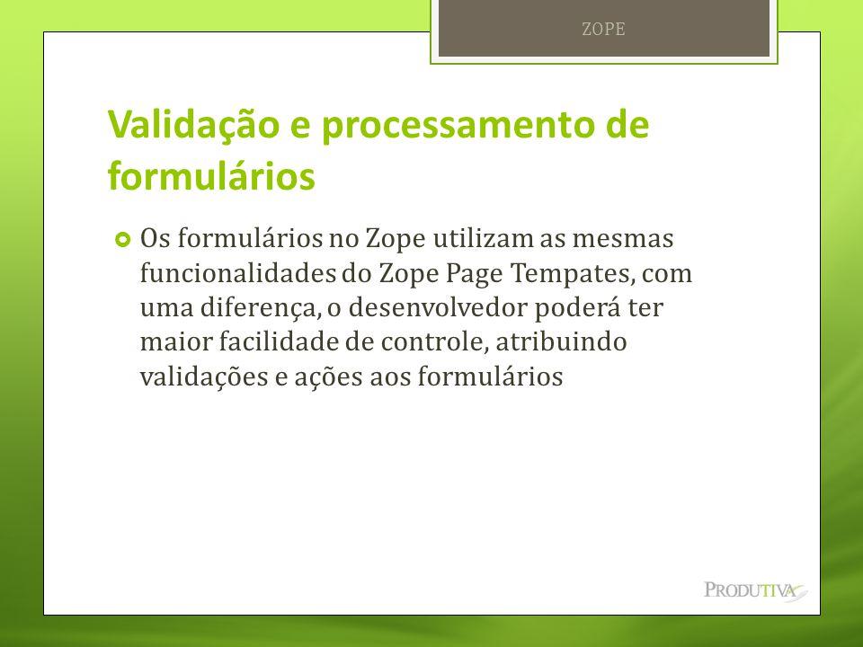 Validação e processamento de formulários
