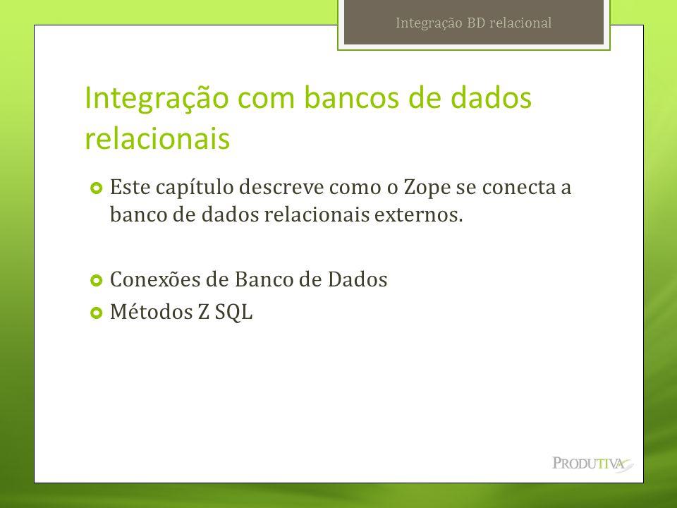 Integração com bancos de dados relacionais