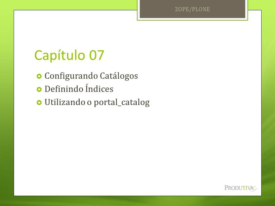 Capítulo 07 Configurando Catálogos Definindo Índices