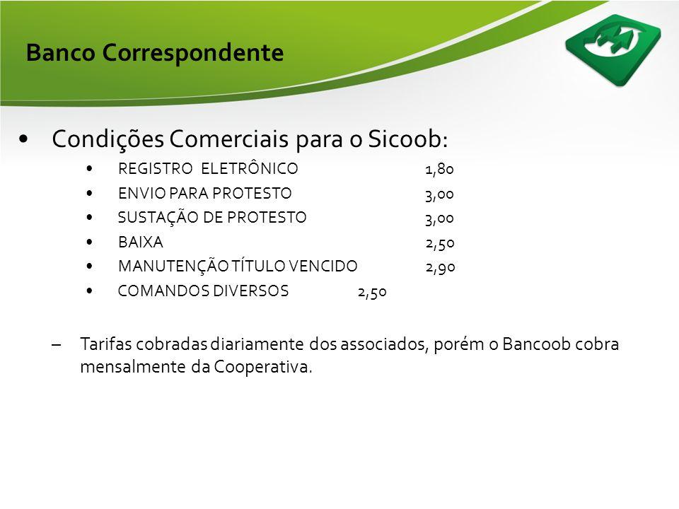 Condições Comerciais para o Sicoob: