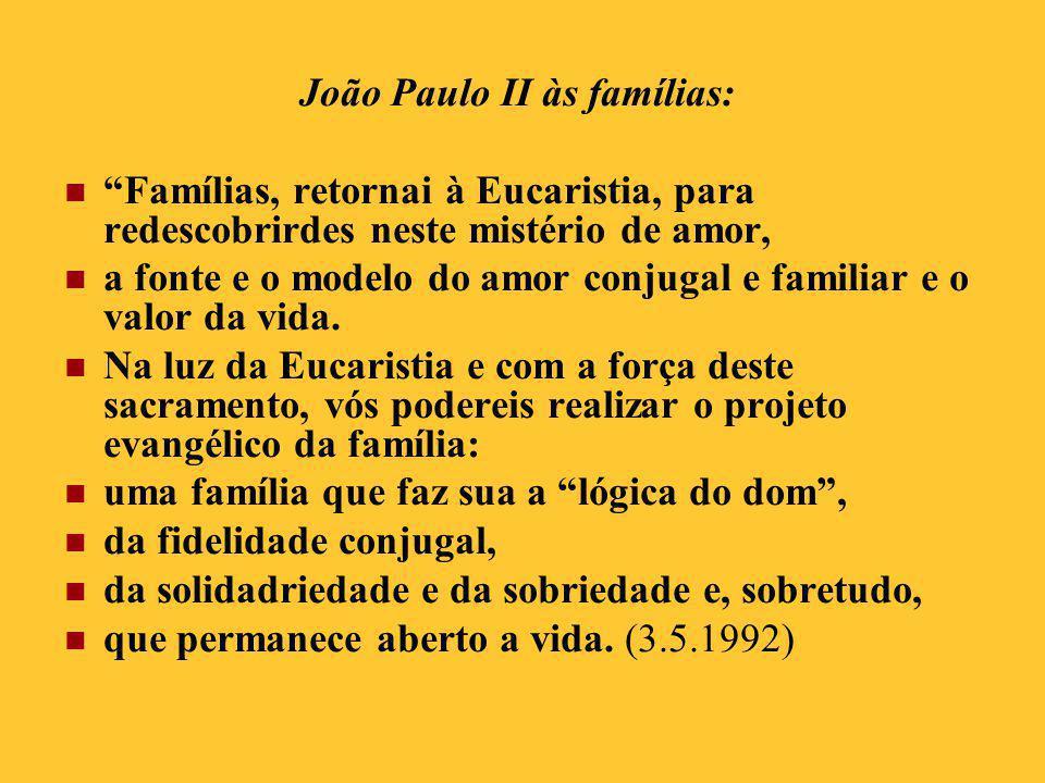 João Paulo II às famílias: