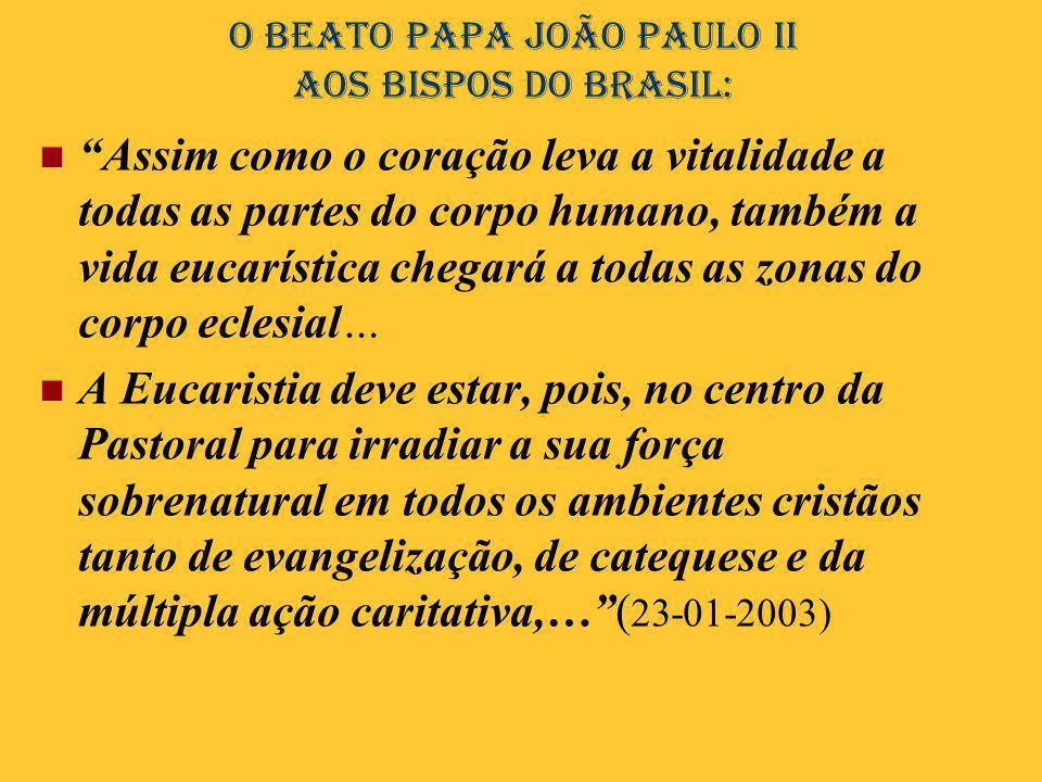O Beato Papa João Paulo II aos bispos do Brasil: