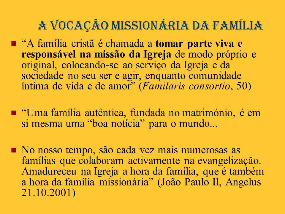 A vocação missionária da família