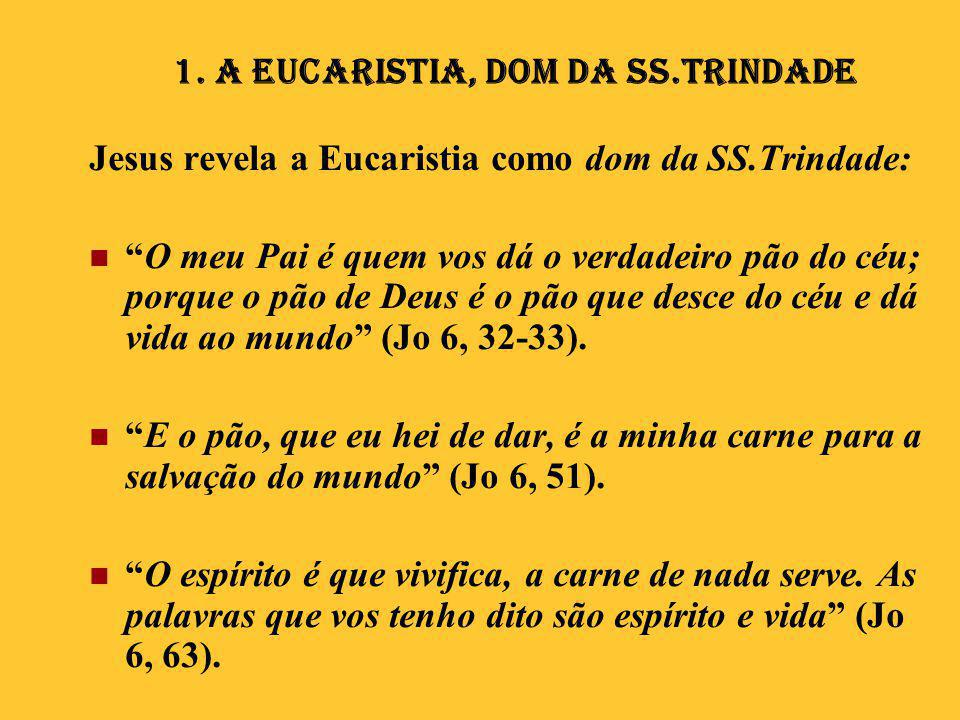 1. A Eucaristia, Dom da SS.Trindade