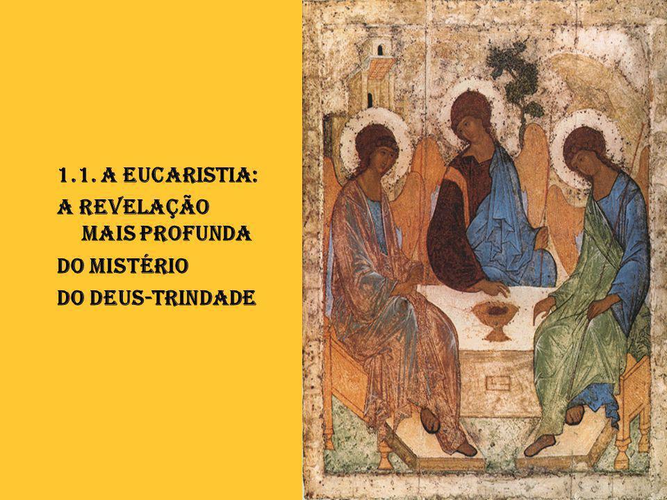 1.1. A Eucaristia: a Revelação mais profunda do Mistério Do Deus-Trindade