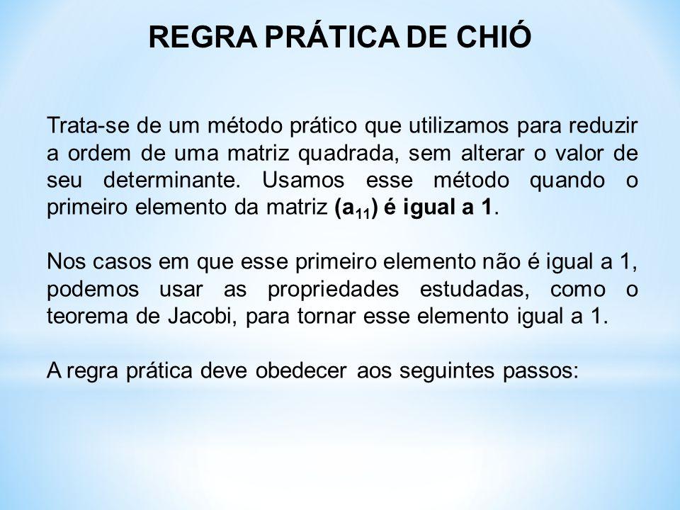 REGRA PRÁTICA DE CHIÓ