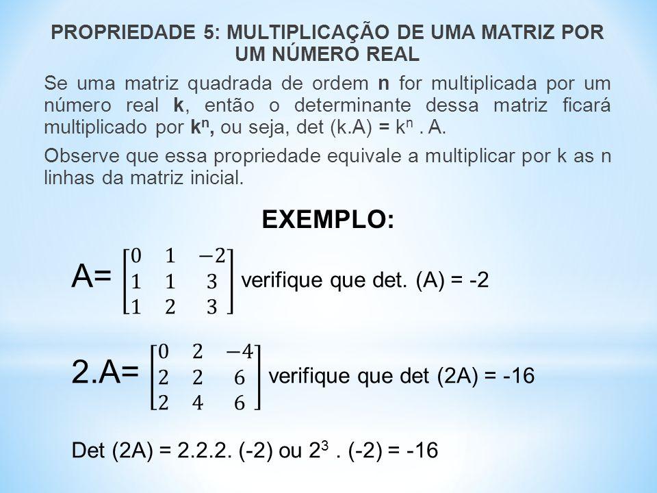A= 0 1 −2 1 1 3 1 2 3 verifique que det. (A) = -2