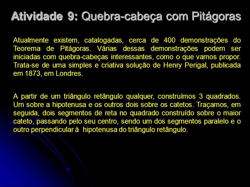 Atividade 9: Quebra-cabeça com Pitágoras