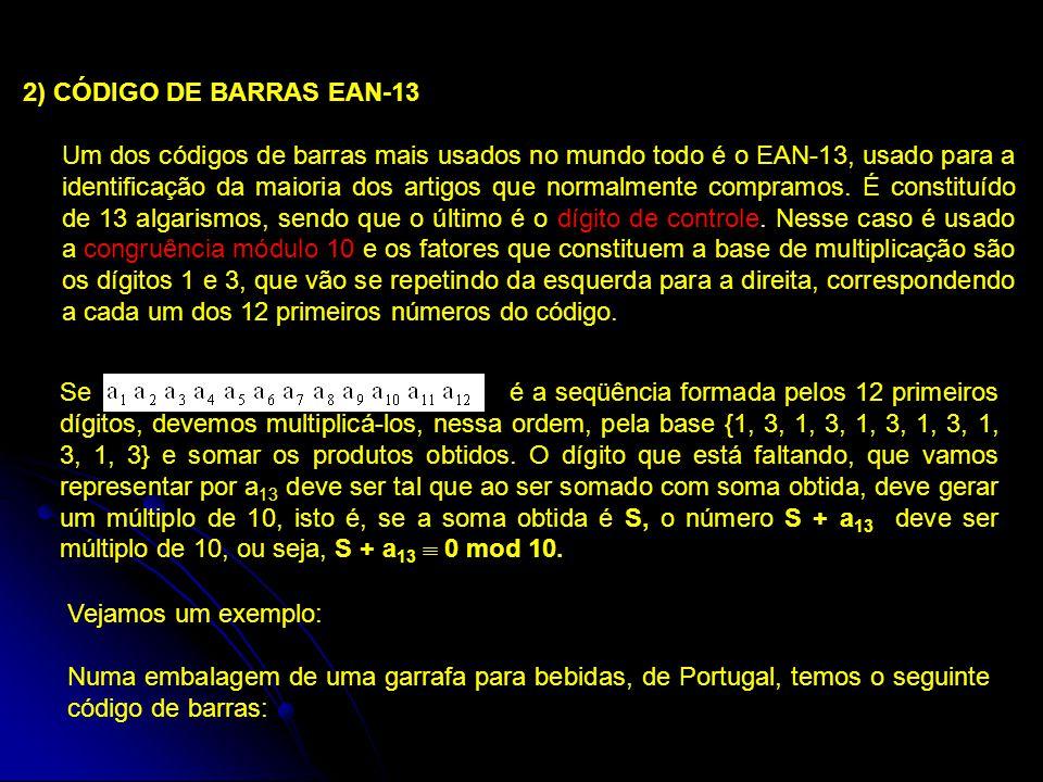 2) CÓDIGO DE BARRAS EAN-13
