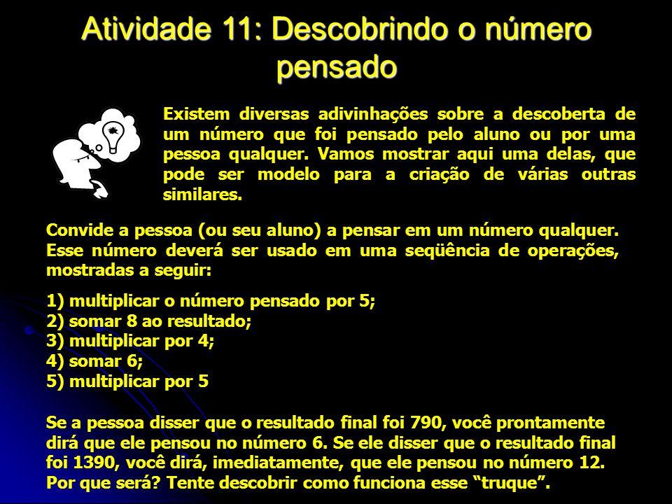Atividade 11: Descobrindo o número pensado