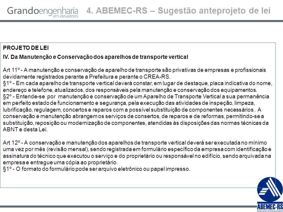 4. ABEMEC-RS – Sugestão anteprojeto de lei