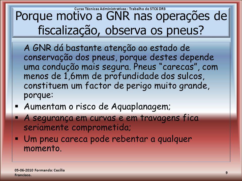 Porque motivo a GNR nas operações de fiscalização, observa os pneus