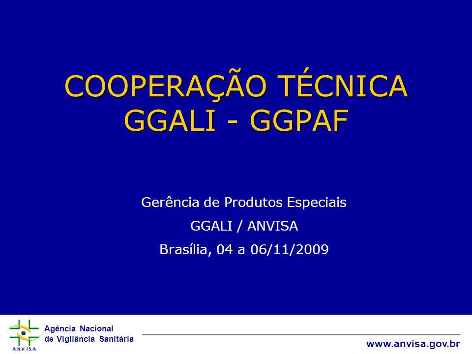 COOPERAÇÃO TÉCNICA GGALI - GGPAF