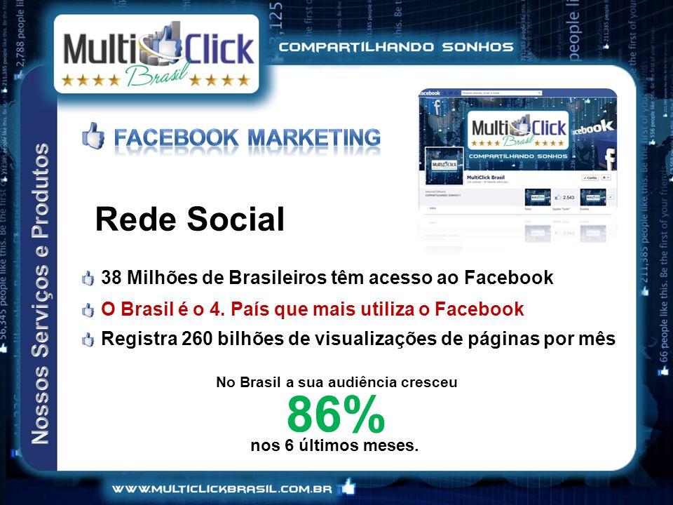 No Brasil a sua audiência cresceu