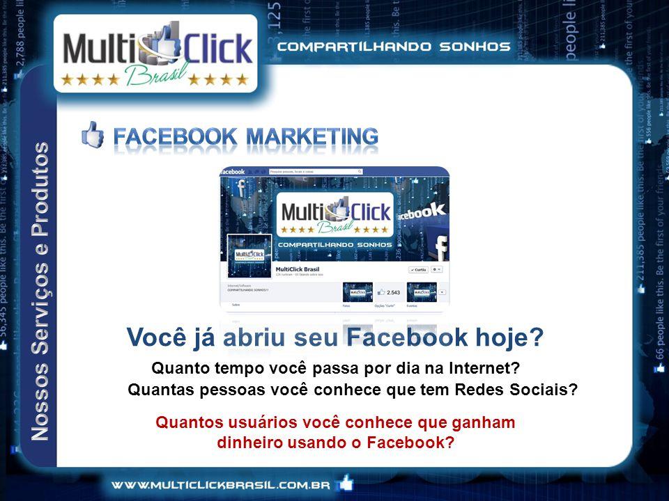 Você já abriu seu Facebook hoje