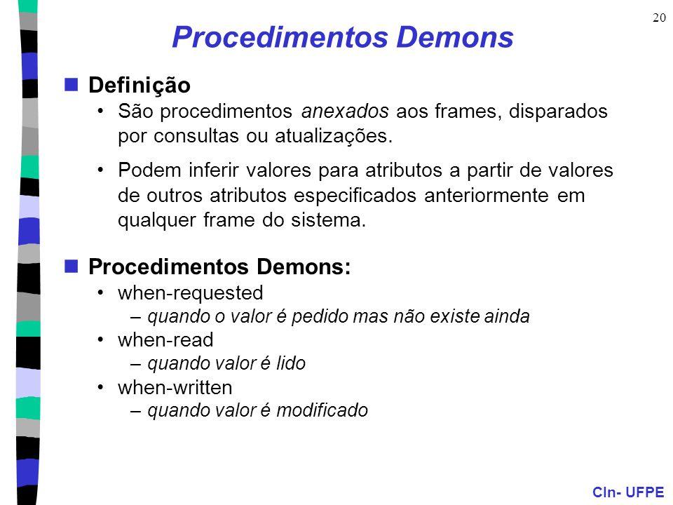 Procedimentos Demons Definição Procedimentos Demons: