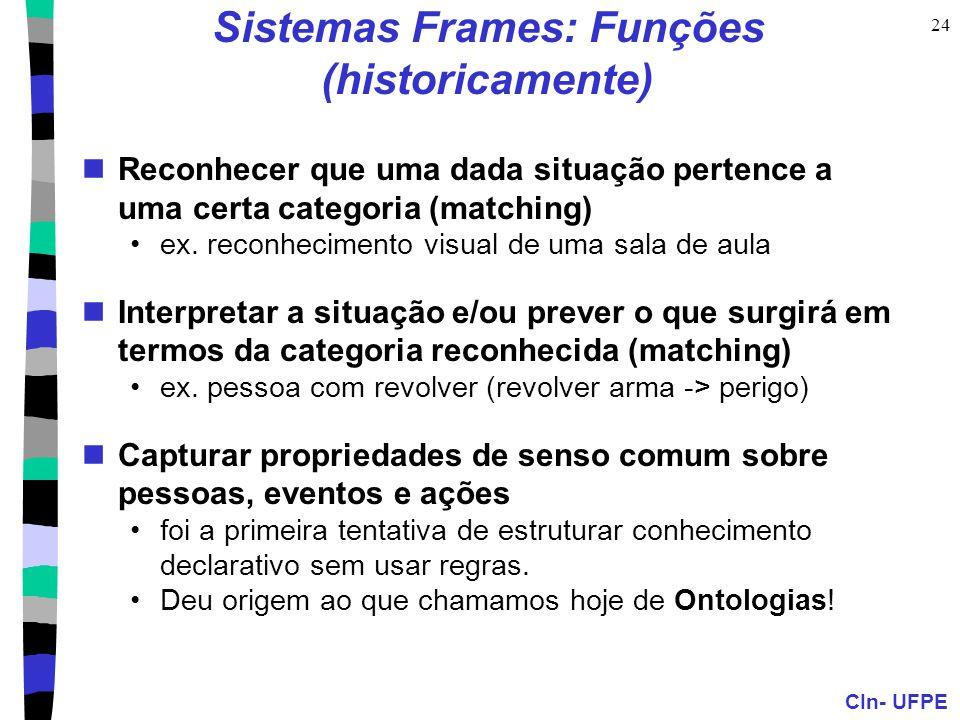 Sistemas Frames: Funções (historicamente)