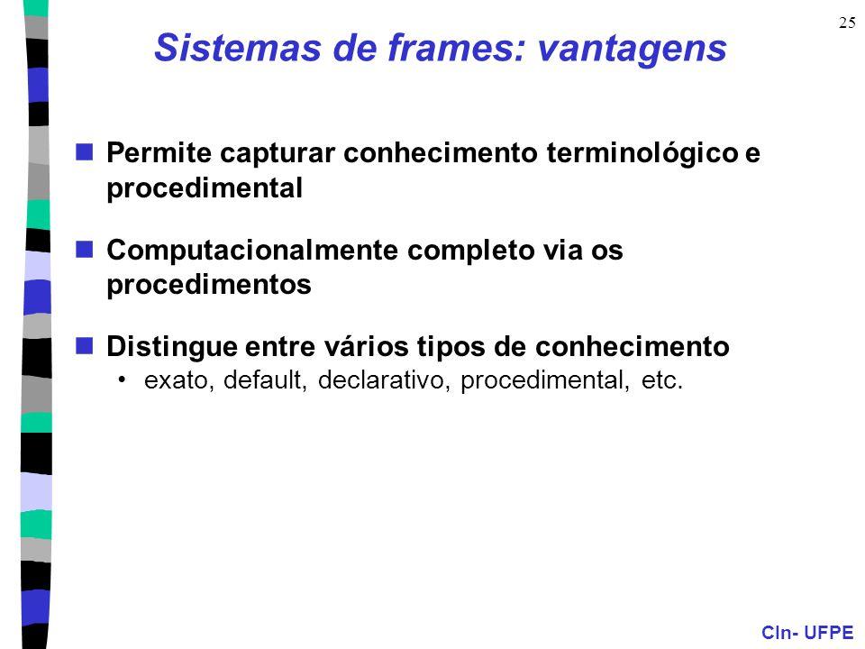 Sistemas de frames: vantagens