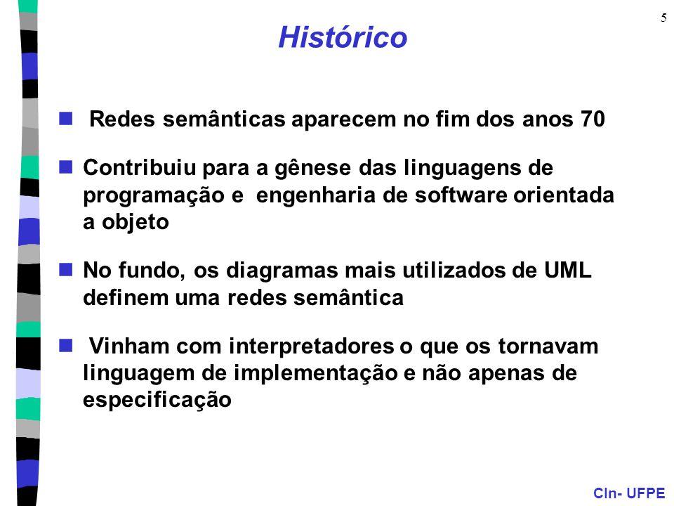 Histórico Redes semânticas aparecem no fim dos anos 70