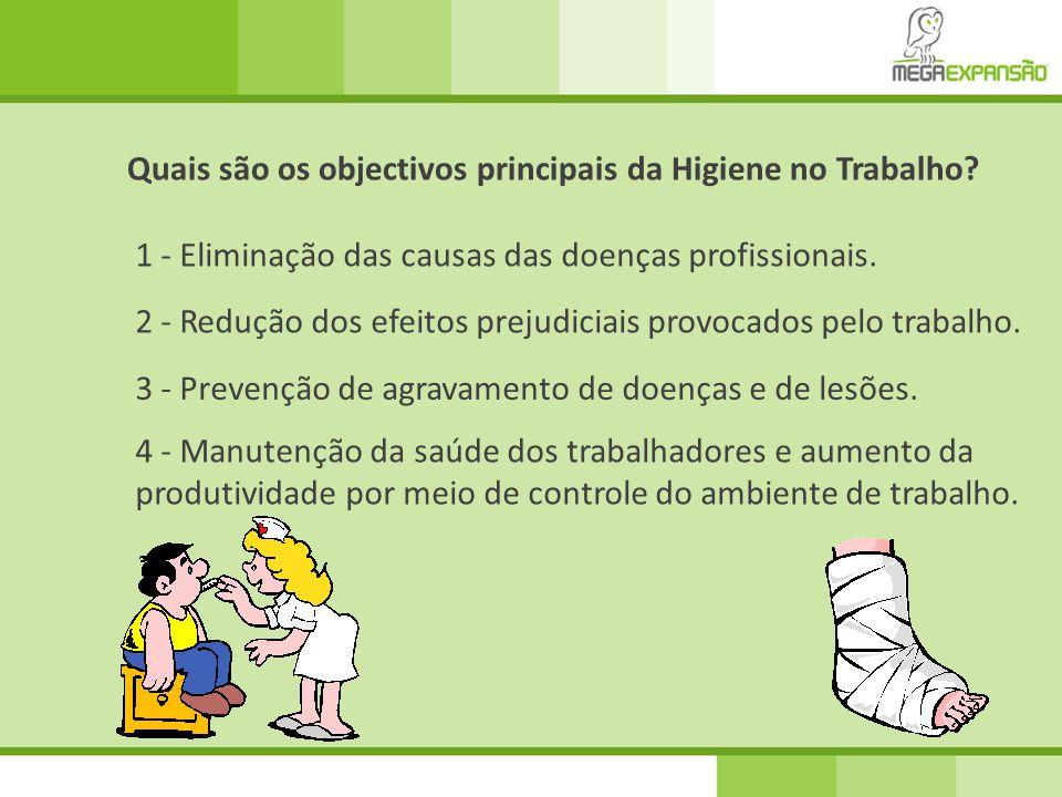 Quais são os objectivos principais da Higiene no Trabalho