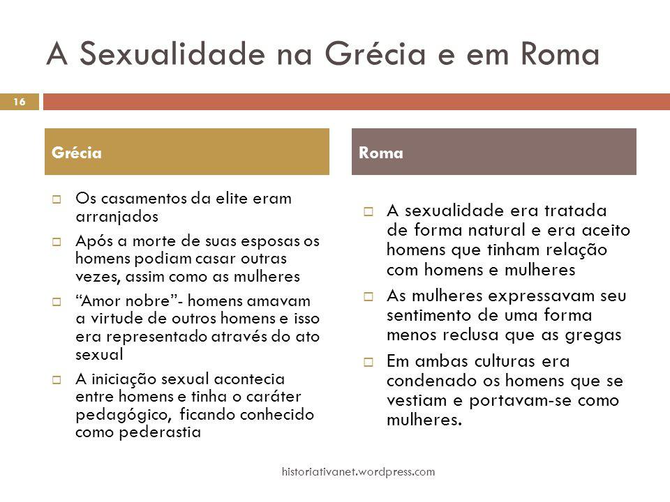 A Sexualidade na Grécia e em Roma