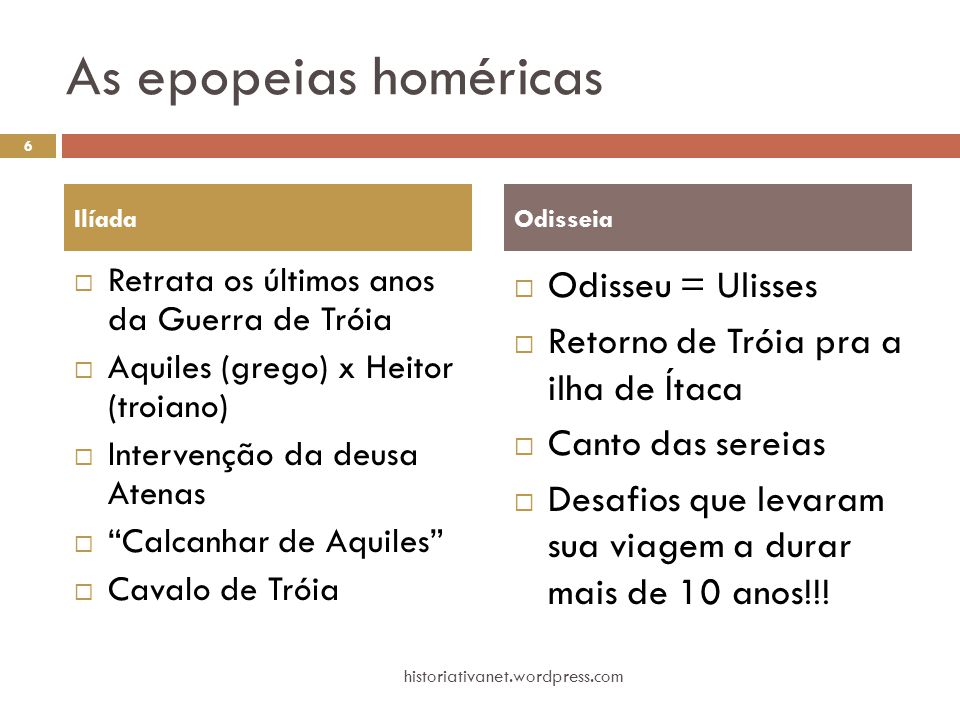 As epopeias homéricas Odisseu = Ulisses