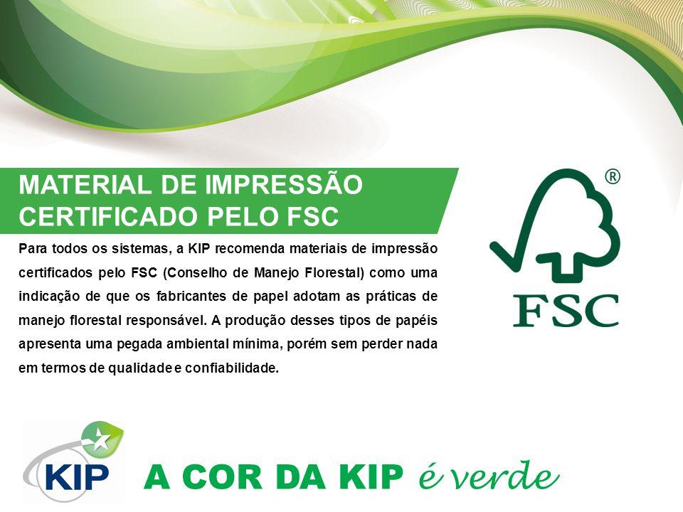 MATERIAL DE IMPRESSÃO CERTIFICADO PELO FSC