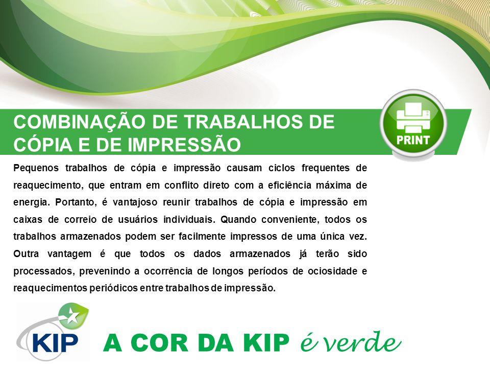 COMBINAÇÃO DE TRABALHOS DE CÓPIA E DE IMPRESSÃO