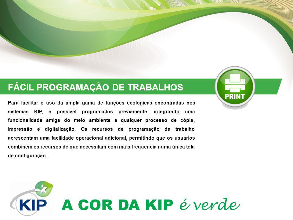FÁCIL PROGRAMAÇÃO DE TRABALHOS