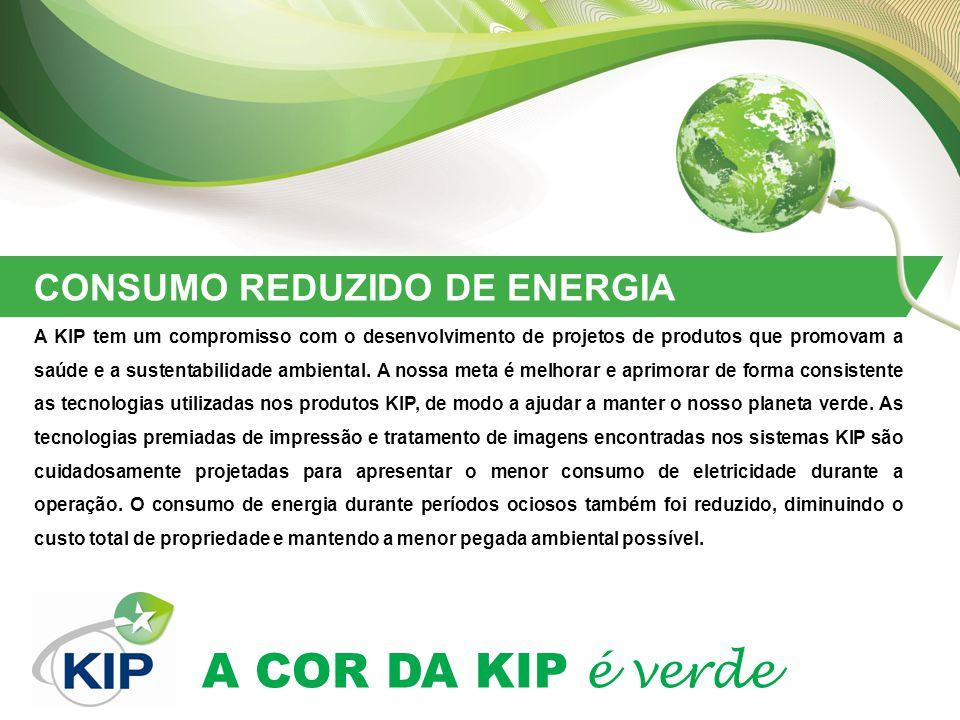 CONSUMO REDUZIDO DE ENERGIA