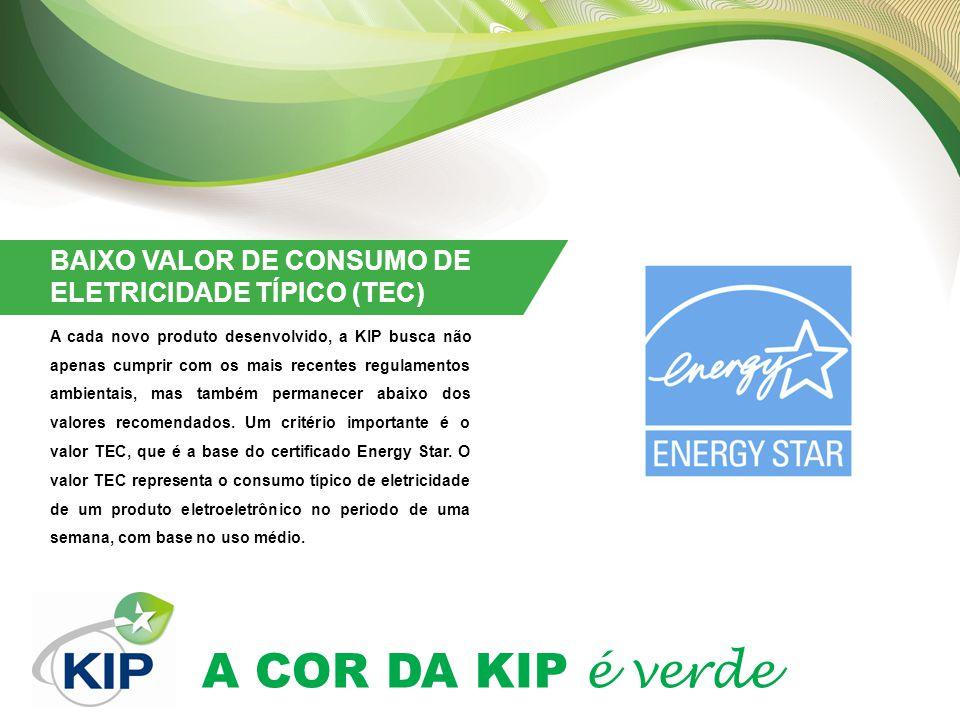 BAIXO VALOR DE CONSUMO DE ELETRICIDADE TÍPICO (TEC)