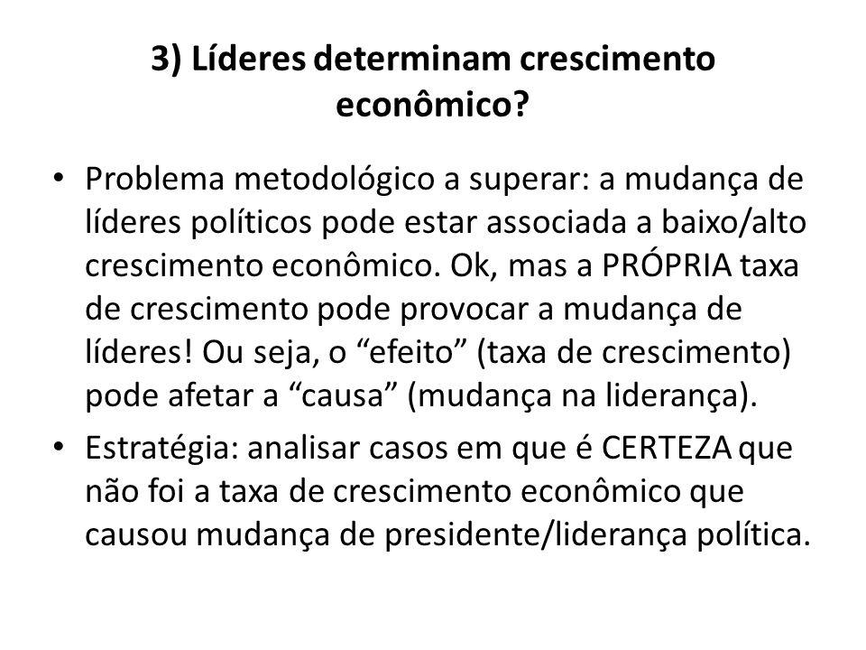 3) Líderes determinam crescimento econômico