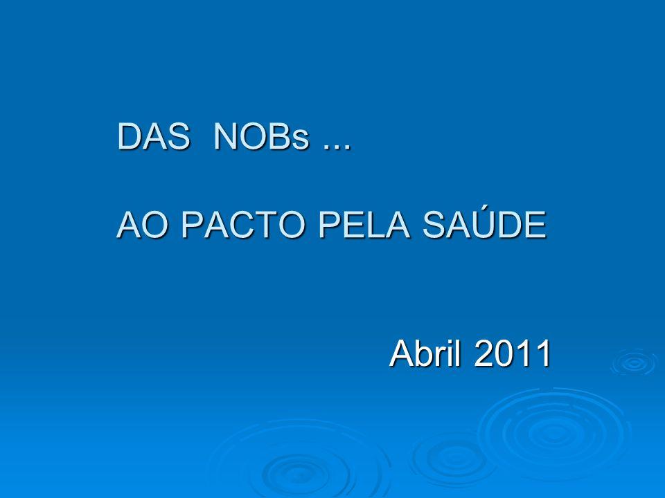 DAS NOBs ... AO PACTO PELA SAÚDE