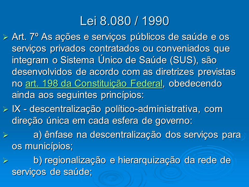 Lei 8.080 / 1990