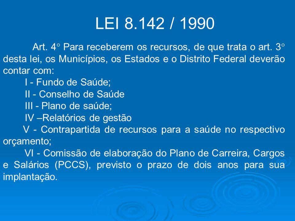 LEI 8.142 / 1990.