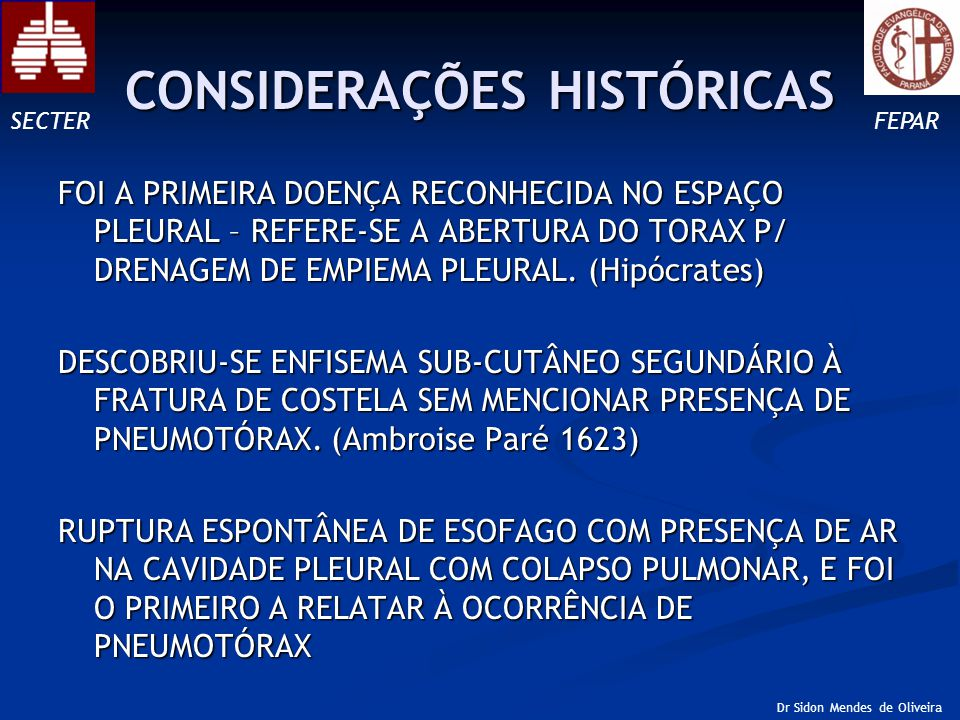 CONSIDERAÇÕES HISTÓRICAS