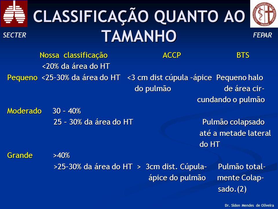 CLASSIFICAÇÃO QUANTO AO TAMANHO