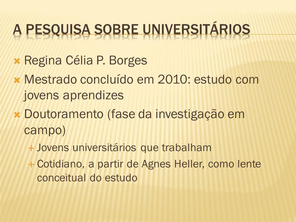 A pesquisa sobre universitários