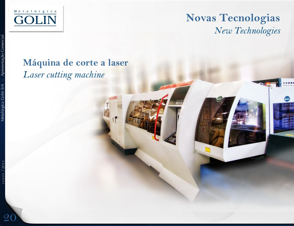 20 Novas Tecnologias New Technologies Máquina de corte a laser