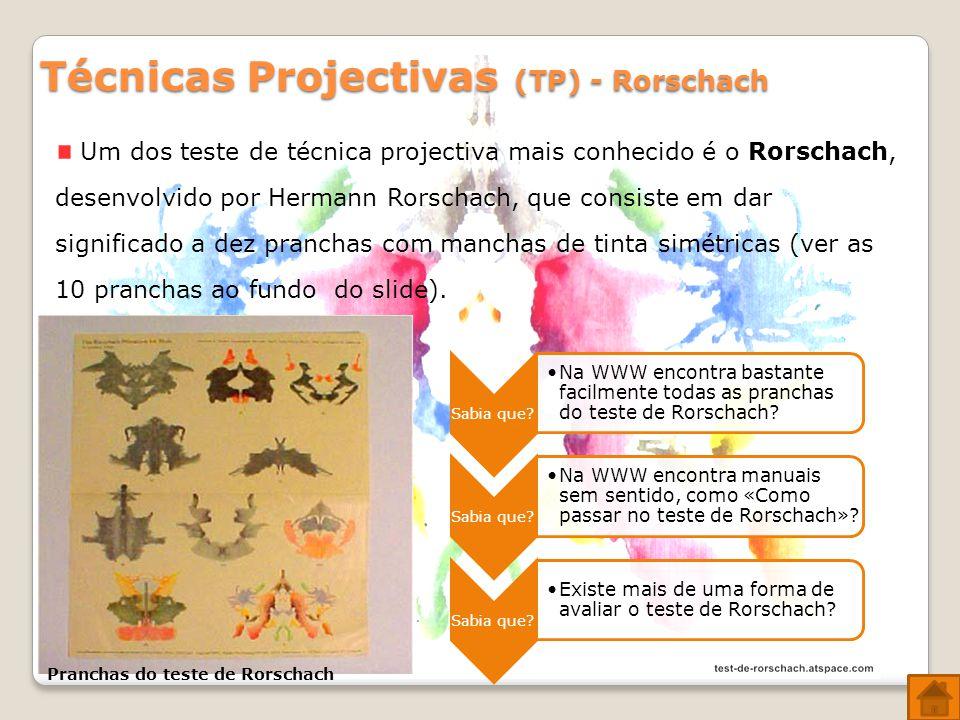 Técnicas Projectivas (TP) - Rorschach