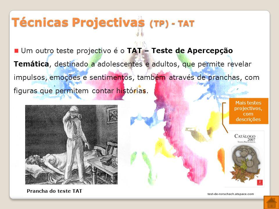 Mais testes projectivos, com descrições