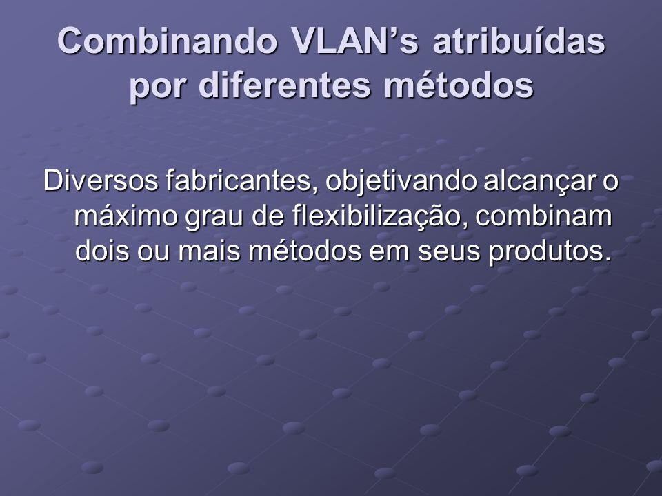 Combinando VLAN's atribuídas por diferentes métodos