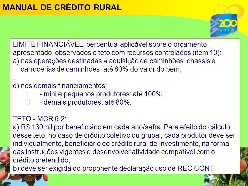 MANUAL DE CRÉDITO RURAL