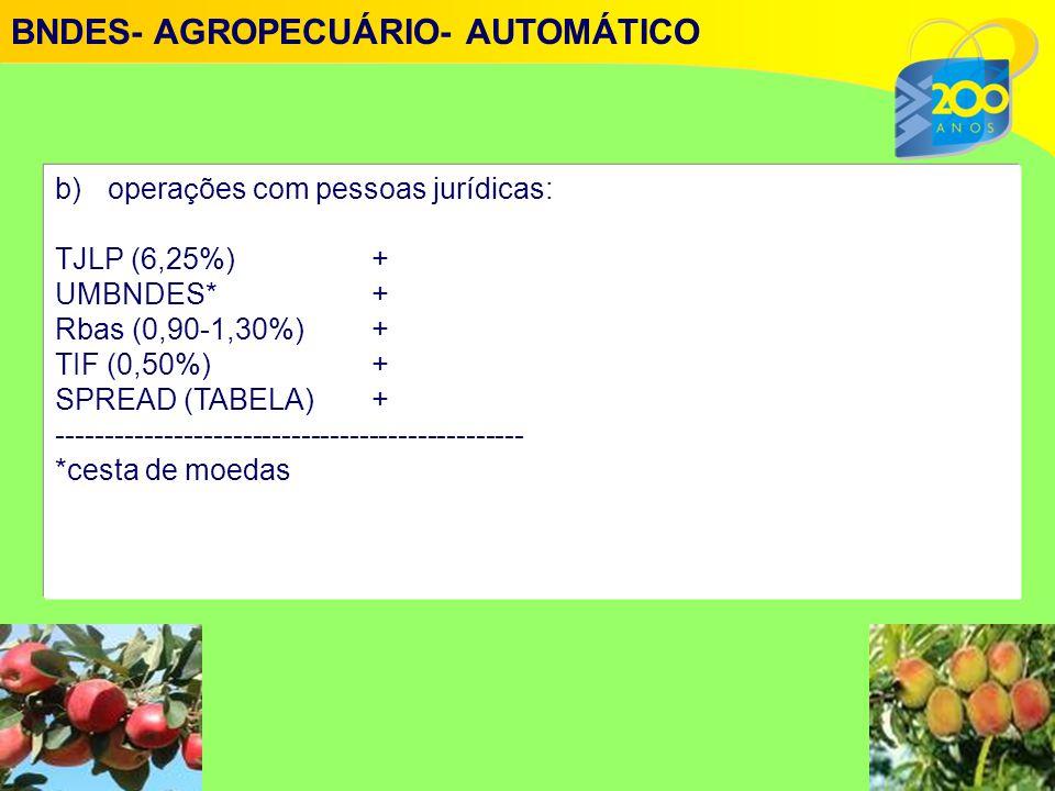 BNDES- AGROPECUÁRIO- AUTOMÁTICO